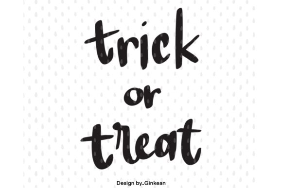 Print on Demand: Trick or Treat Graphic Graphic Templates By Ginkean