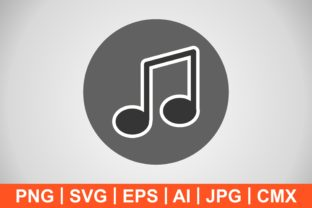 Print on Demand: Vector Music Note Icon Graphic Icons By IYIKON