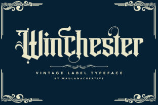 Print on Demand: Winchester Blackletter Font By Maulana Creative
