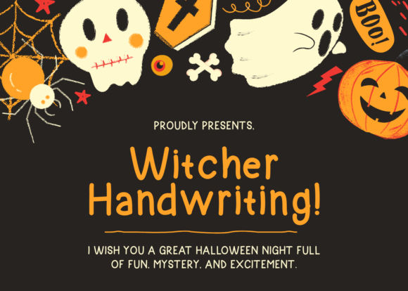 Print on Demand: Witcher Handwriting Script & Handwritten Font By Azis Ihsan