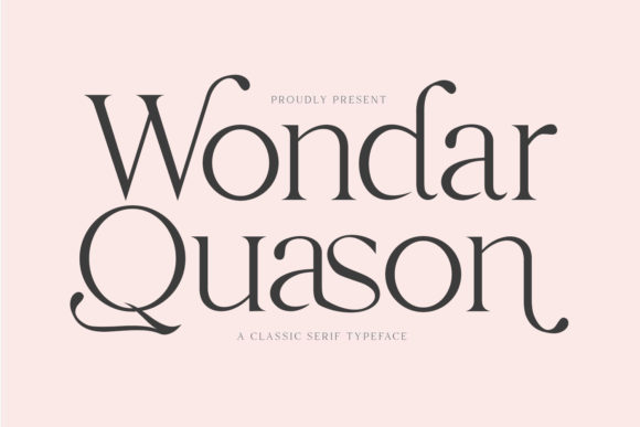 Print on Demand: Wondar Quason Serif Font By Maulana Creative
