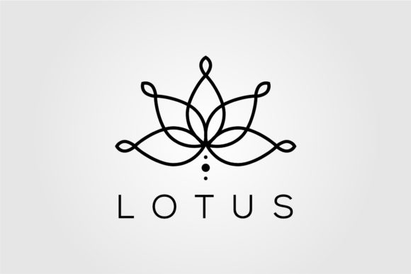 Line Art Lotus Logo Vector Designs Graphic Logos By lawoel