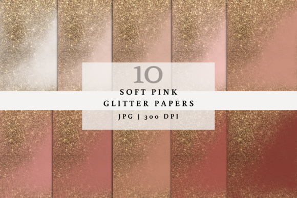 10 Peach and Pink Glitter Digital Papers Graphic Backgrounds By SagaDesignStudio