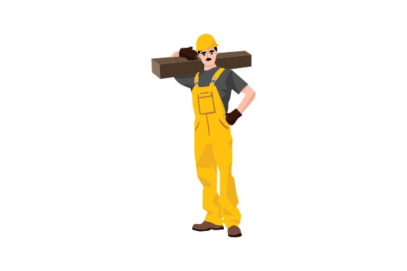 Construction Worker Work Craft Cut File By Creative Fabrica Crafts