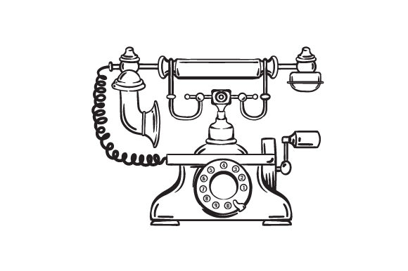 Old School Telephone Designs & Drawings Craft Cut File By Creative Fabrica Crafts