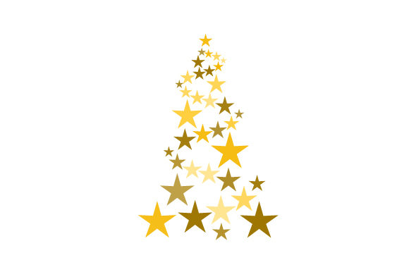 Christmas Tree of Stars Christmas Craft Cut File By Creative Fabrica Crafts