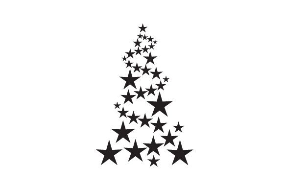 Christmas Tree of Stars Cut File Download
