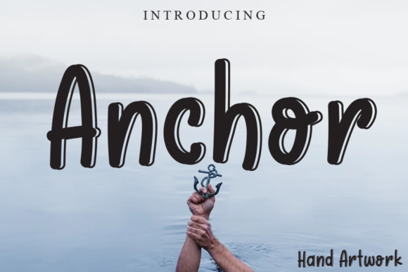 Print on Demand: Anchor Display Font By gunawanletter