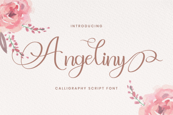 Print on Demand: Angeliny Script & Handwritten Font By StringLabs