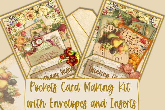 Print on Demand: Autumn Fall Card Making Kit JPEG PDF Graphic Crafts By The Paper Princess