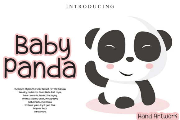 Print on Demand: Baby Panda Display Font By gunawanletter