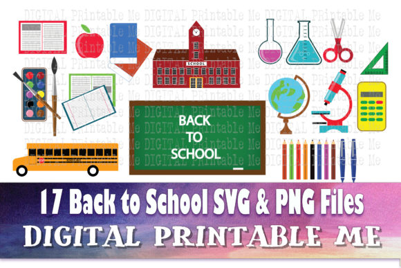 Print on Demand: Back to School, Office Supplies Graphic Illustrations By DigitalPrintableMe