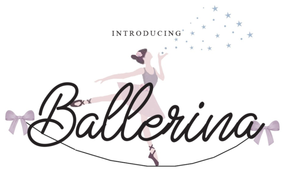 Print on Demand: Ballerina Script & Handwritten Font By gunawanletter