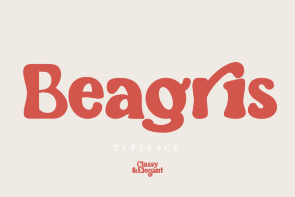Print on Demand: Beagris Display Font By Arendxstudio