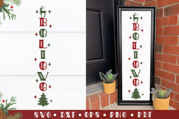 Believe, Christmas Porch Sign  Graphic Crafts By CraftlabSVG