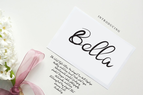 Print on Demand: Bella Script & Handwritten Font By gunawanletter