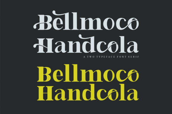 Print on Demand: Bellmoco Handcola Serif Font By Creativewhitee