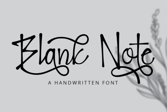 Print on Demand: Blank Note Script & Handwritten Font By putracetol