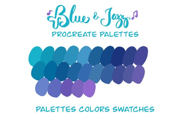 Blue &Jazz Procreate Instant Download Graphic Add-ons By Poycl Jazz