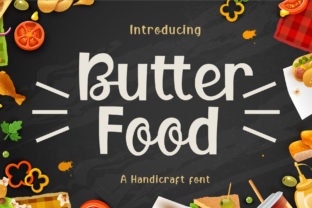 Print on Demand: Butter Food Display Font By Graphicxell 1