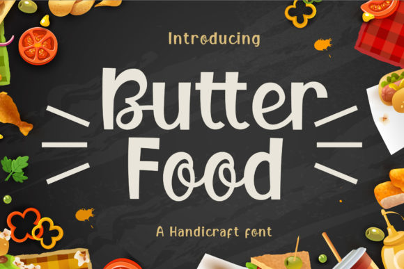 Print on Demand: Butter Food Display Fuente Por Graphicxell