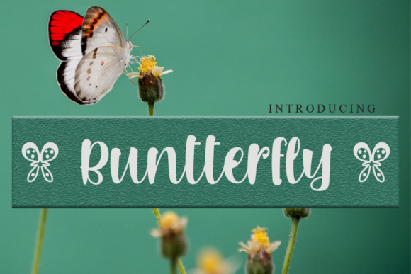 Print on Demand: Buntterfly Script & Handwritten Font By gunawanletter