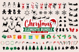Print on Demand: Christmas Bundle Elements Vector Graphic Illustrations By Universtock