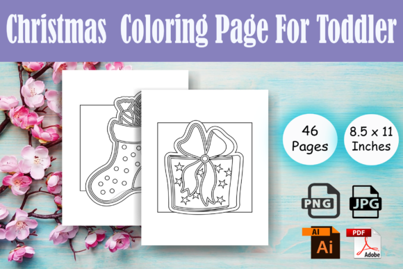 Print on Demand: Christmas Coloring Page for Toddler- KDP Graphic Coloring Pages & Books Kids By Sei Ripan