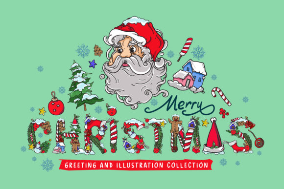 Christmas Greeting Card Illustration Graphic Illustrations By singpentinkhappy.project