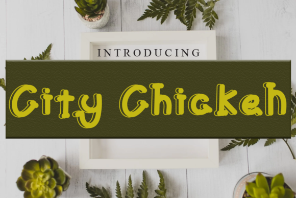 Print on Demand: City Chicken Serif Font By gunawanletter