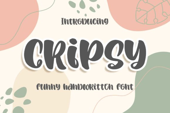 Print on Demand: Cripsy Display Font By Blankids Studio