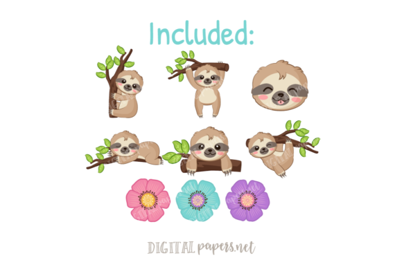 Cute Sloth Graphic Download