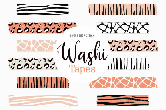 Digital Washi Tape Animal Prints Clipart Graphic Illustrations By Sweet Shop Design