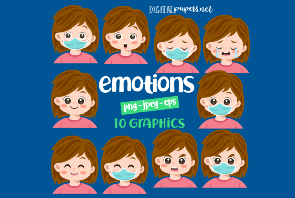 Print on Demand: Emotions Clipart Graphic Illustrations By DigitalPapers