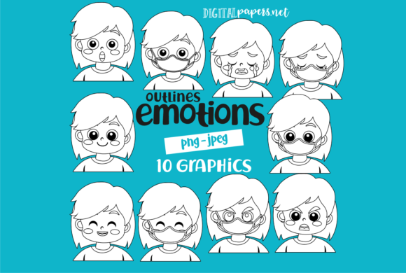 Print on Demand: Emotions - Outlines Graphic Illustrations By DigitalPapers