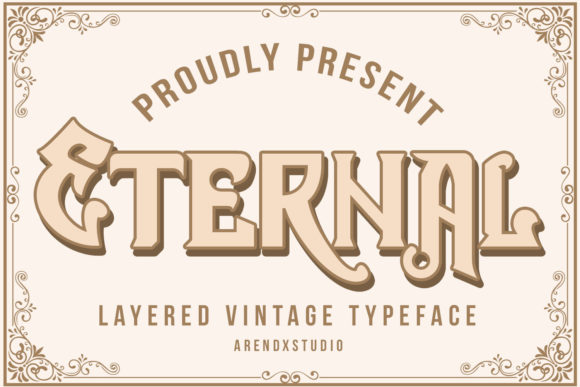 Print on Demand: Eternal Blackletter Font By Arendxstudio