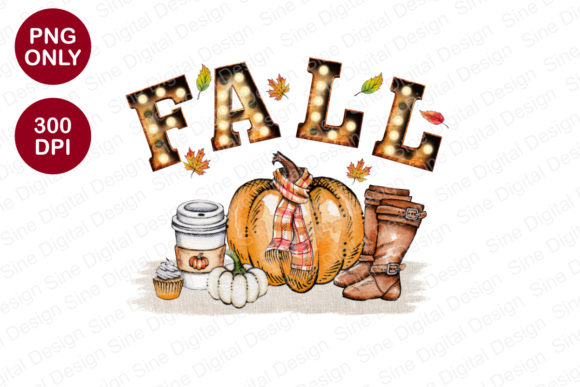 Fall Sublimation Designs Graphic Crafts By SineDigitalDesign