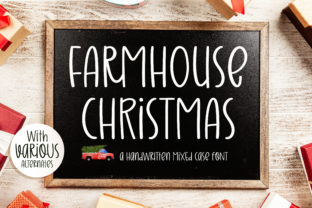Print on Demand: Farmhouse Christmas Script & Handwritten Font By BitongType
