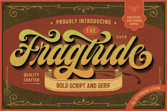 Print on Demand: Fragtude Script & Handwritten Font By letterhend