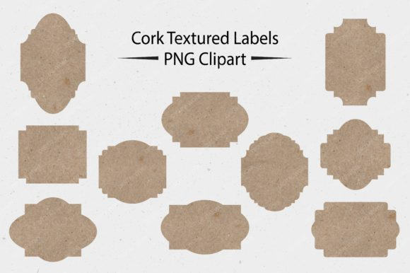 Frames Labels - Cork Tags Graphic Illustrations By LeskaHamatyDesign