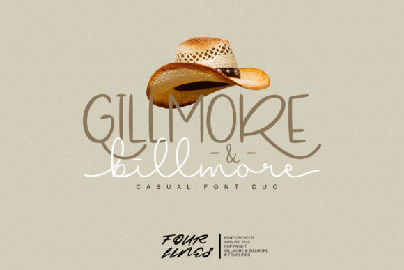 Print on Demand: Gillmore & Billmore Script & Handwritten Font By Fourlines.design