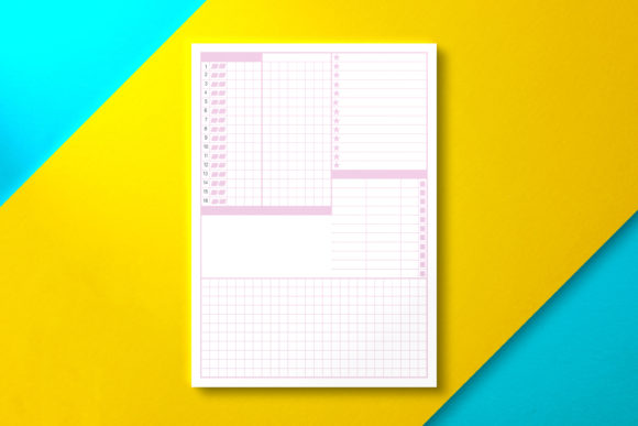 Grid Daily Planner, PDF Graphic KDP Interiors By Nickkey Nick