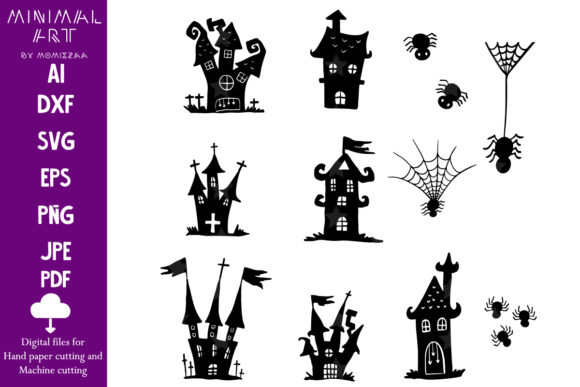 Print on Demand: Halloween Castle Sublimation Graphic Crafts By Momixzaa