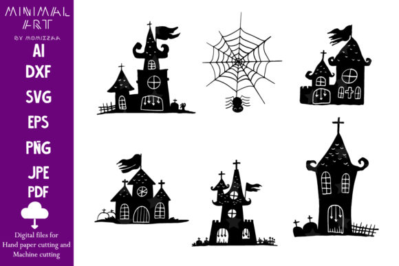 Print on Demand: Halloween Castle Sublimation Graphic Print Templates By Momixzaa