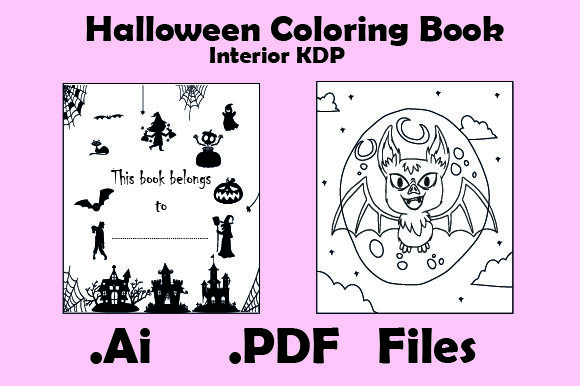 Halloween Coloring Book for Kids 30Pages Graphic KDP Interiors By KDP_Interior_101