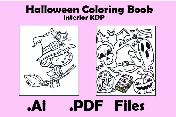 Halloween Coloring Book for Kids 30Pages Graphic KDP Interiors By KDP_Interior_101 - Image 2