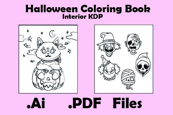 Halloween Coloring Book for Kids 30Pages Graphic KDP Interiors By KDP_Interior_101 - Image 3