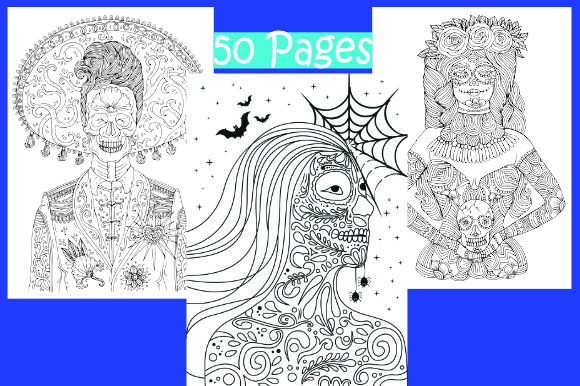 Print on Demand: Halloween Coloring Pages 50 Vector Items Graphic Coloring Pages & Books Adults By ajubayer555