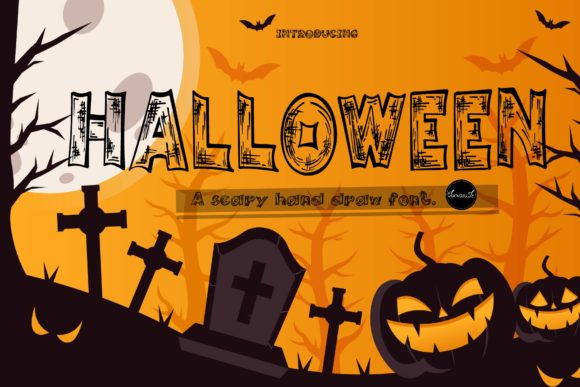 Print on Demand: Halloween Display Font By tanvara544
