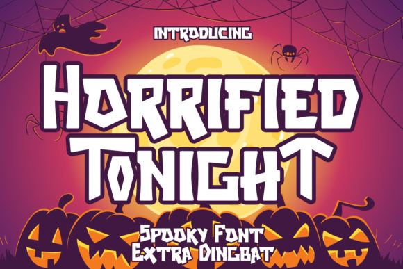 Print on Demand: Horrified Tonight Decorative Font By Arendxstudio